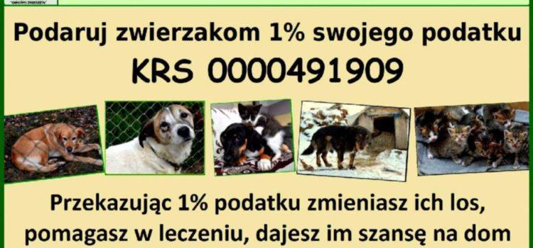 Podziel się podatkiem, podaruj zwierzakom 1% !